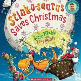 Stink-o-saurus Saves Christmas Book with CD (Paperback)